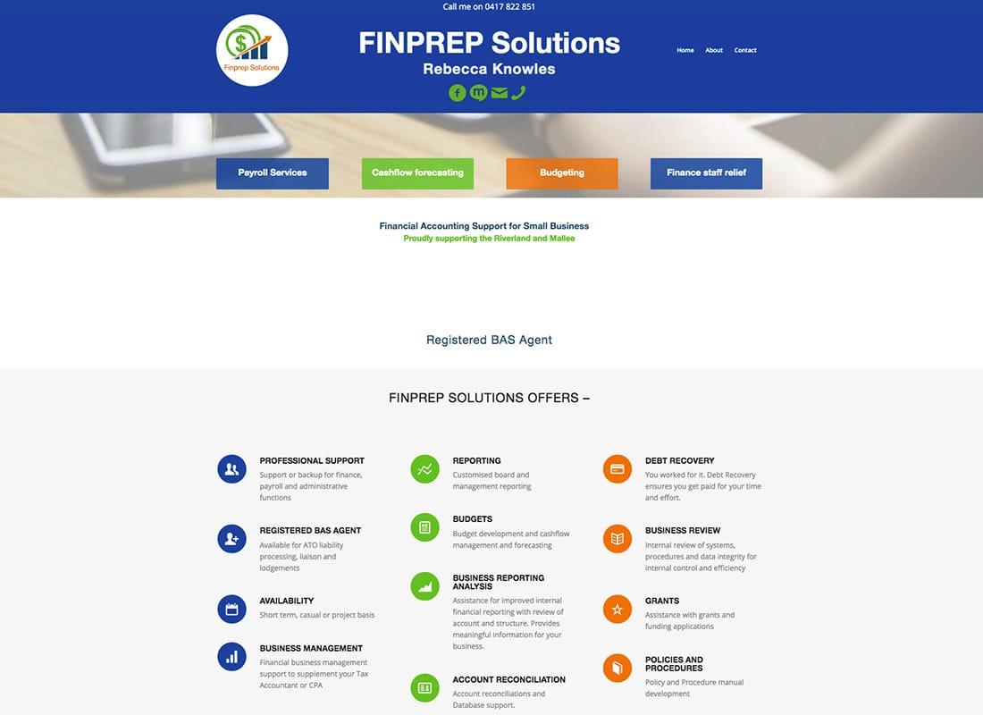 High performance website for Finprep Solutions