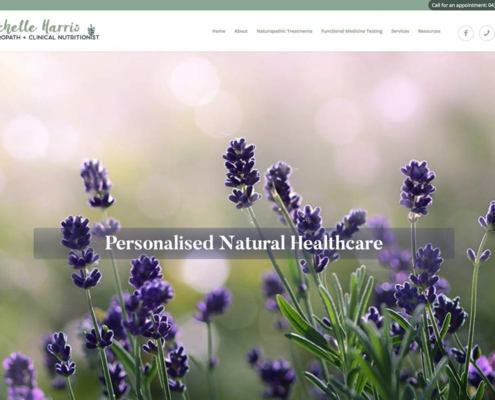 High performance website for Michelle Harris Naturopath