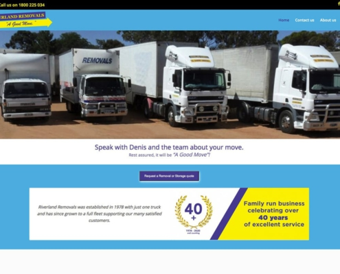 High performance website for Riverland Removals