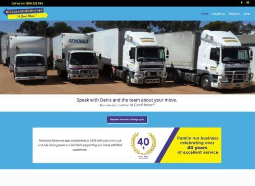 High performance website for Riverland Removals